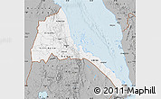 Gray Map of Eritrea