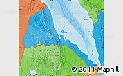 Political Shades Map of Eritrea