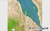 Satellite Map of Eritrea