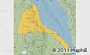 Savanna Style Map of Eritrea