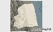 Shaded Relief 3D Map of Afabet, darken