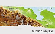 Physical Panoramic Map of Foro