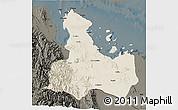 Shaded Relief 3D Map of Ghelaelo', darken