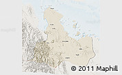 Shaded Relief 3D Map of Ghelaelo', lighten