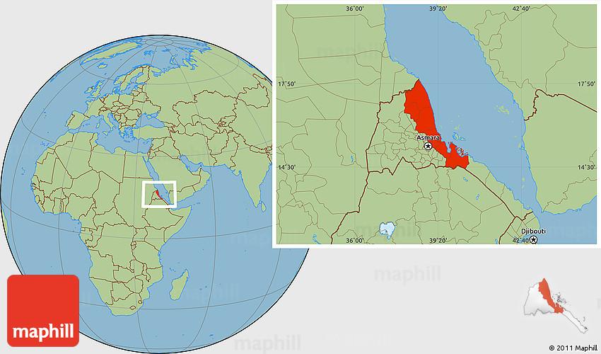 Savanna Style Location Map of N RedSea