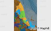 Political Map of N. Red-Sea, darken