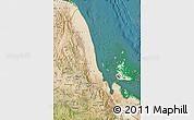 Satellite Map of N. Red-Sea