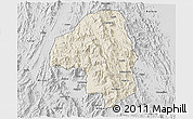 Shaded Relief 3D Map of Nakfa, desaturated