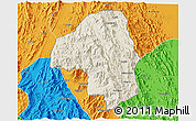 Shaded Relief 3D Map of Nakfa, political outside