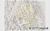 Shaded Relief 3D Map of Nakfa, semi-desaturated