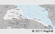 Gray Panoramic Map of Eritrea