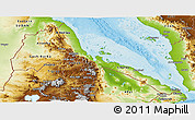 Physical Panoramic Map of Eritrea