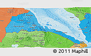 Political Shades Panoramic Map of Eritrea