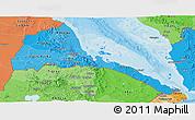 Political Shades Panoramic Map of Eritrea