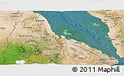 Satellite Panoramic Map of Eritrea