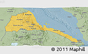 Savanna Style Panoramic Map of Eritrea