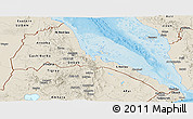 Shaded Relief Panoramic Map of Eritrea