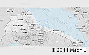 Silver Style Panoramic Map of Eritrea