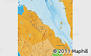 Political Shades Map of S. Red-Sea