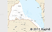 Classic Style Simple Map of Eritrea