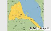 Savanna Style Simple Map of Eritrea