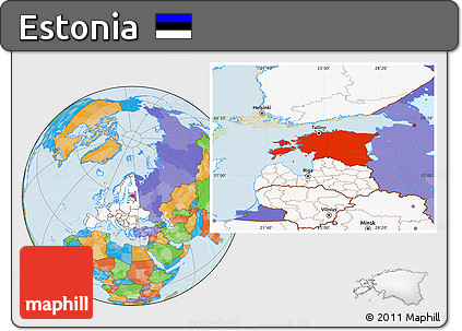 highlighted continent political location map of estonia highlighted continent