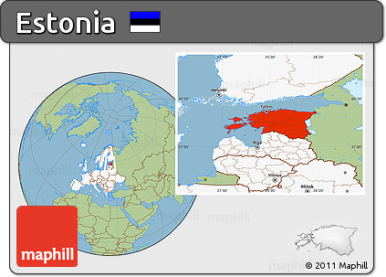 highlighted continent savanna style location map of estonia highlighted continent