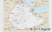 Classic Style 3D Map of Ethiopia