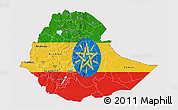 Flag 3D Map of Ethiopia