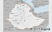 Gray 3D Map of Ethiopia