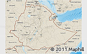 Shaded Relief 3D Map of Ethiopia