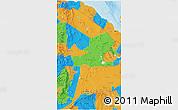 Political 3D Map of Afar