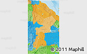 Political Shades 3D Map of Afar