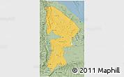 Savanna Style 3D Map of Afar