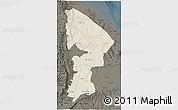 Shaded Relief 3D Map of Afar, darken