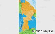 Political Shades Map of Afar