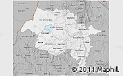 Gray 3D Map of Amhara