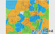 Political 3D Map of Amhara