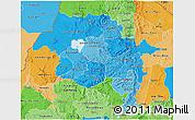 Political Shades 3D Map of Amhara