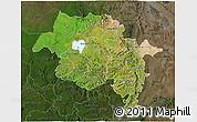 Satellite 3D Map of Amhara, darken