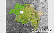 Satellite 3D Map of Amhara, desaturated