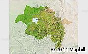 Satellite 3D Map of Amhara, lighten
