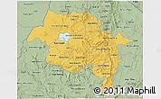 Savanna Style 3D Map of Amhara