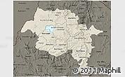 Shaded Relief 3D Map of Amhara, darken