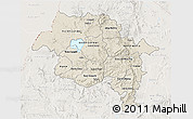 Shaded Relief 3D Map of Amhara, lighten