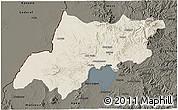 Shaded Relief 3D Map of North Gonder, darken