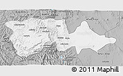 Gray 3D Map of North Wello