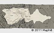 Shaded Relief 3D Map of North Wello, darken