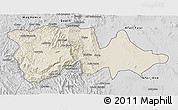 Shaded Relief 3D Map of North Wello, desaturated