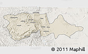 Shaded Relief 3D Map of North Wello, lighten